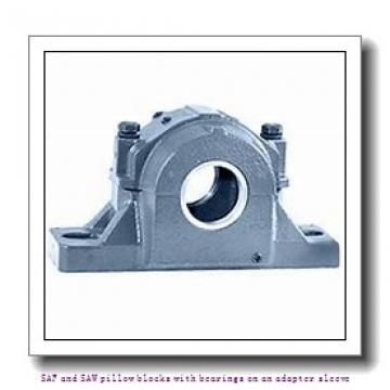 skf FSAF 22515 x 2.3/8 T SAF and SAW pillow blocks with bearings on an adapter sleeve