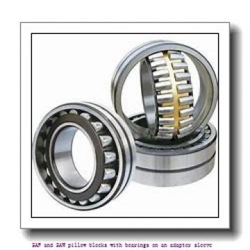 skf SAFS 22517 x 3 TLC SAF and SAW pillow blocks with bearings on an adapter sleeve