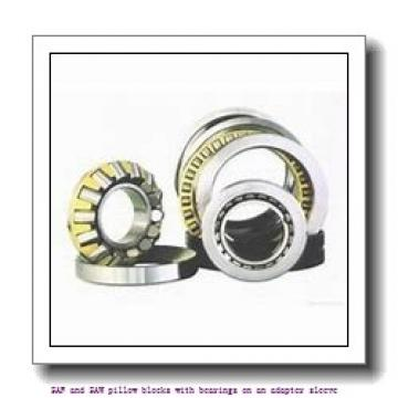 skf SAF 23024 KAT x 4 SAF and SAW pillow blocks with bearings on an adapter sleeve
