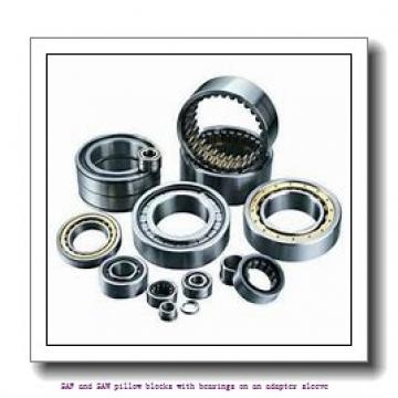 skf SAFS 22515 x 2.3/8 TLC SAF and SAW pillow blocks with bearings on an adapter sleeve