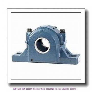 skf FSAF 22611 x 1.7/8 SAF and SAW pillow blocks with bearings on an adapter sleeve