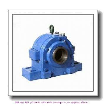 skf SSAFS 22528 x 4.7/8 T SAF and SAW pillow blocks with bearings on an adapter sleeve
