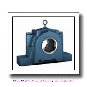 skf SAF 22517 x 2.13/16 SAF and SAW pillow blocks with bearings on an adapter sleeve
