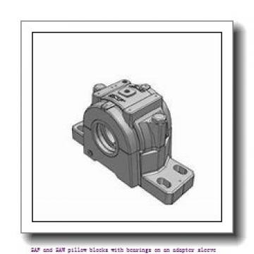 skf SSAFS 22516 x 2.3/4 SAF and SAW pillow blocks with bearings on an adapter sleeve